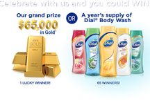 #Dial 65K Gold Sweepstakes / What would You Buy If You Won the #Dial 65K Gold Sweepstakes?  Like & Repin  this board, name two things you would buy & then enter the sweepstakes here >> http://insiders.purex.com/Dial65KGoldGiveaway?id=136 Also visit & enter my free coupon giveaway to score a free bottle of #dial Body Wash for yourself