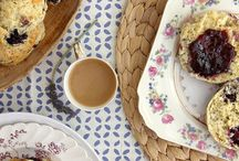 * tea time with scones *