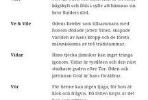 Nordisk mytologi ... Asatro samt andra övernaturliga väsen och folktro
