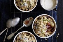 sweets/desserts: pies/tarts/crumbles