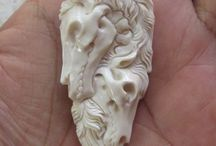 Bone carving.