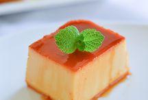 Jello, Flan, & Magic Cake / Jello, Jello Cake, Custard, Flan, Magic Cake, Pots du creme, Creme Brulee, Gelatin, Curd, Tofu