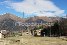 В горах Кавказа, Красная Поляна, Россия