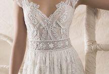 wedding dress&hair