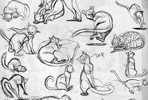Dessins chats