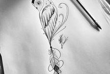 κουκουβάγιες tattoo