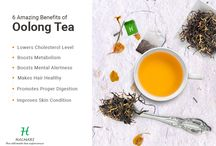 Oolong Tea / A smooth, gentle, mellow tea with a distinct honey finish. Well rolled wiry whole leaf with a generous sprinkling of white-gold buds.