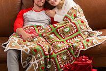 Christmas crochet blankets
