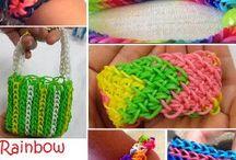 loom rainbow bracelets élastiques