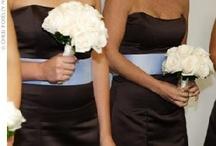 Wedding Colors: Brown + Blue