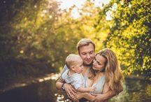 Sesja rodzinna nad rzeką