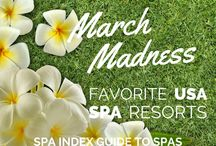 Spa March Madness / 64 USA Spa Resorts square off to be voted Grand Champion -- Readers' Choice Favorite USA Spa Resort 2015.  Who will win? / by SpaIndex.com Guide to Spas