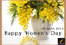 """8th March / """"When you write about women, you must dip your pen in a rainbow and dry the page with the powder of butterfly wings"""" (Denis Diderot)  March 8, International Women's Day, Special wishes to everyone!"""
