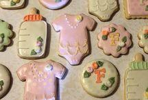 @Cookiesbykayli Babyshower Cookies