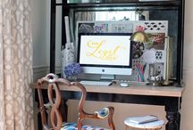home: office & craft spaces / by Sandra Fleming