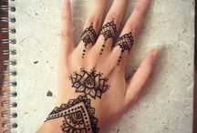 HENNA AND TATTOOS / Mehndi and tattoos or stencils