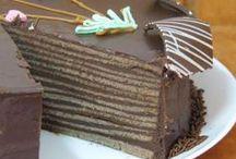 torta de panqueque de chocolate