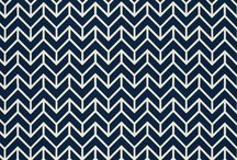 navy and white geo print