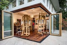Art studio to build / Great art studio ideas to create. / by Kim Rivard