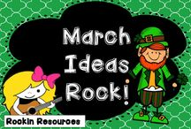 March Ideas that Rock / Find the best ideas and resources to teach March-themed lessons to upper elementary students. / by Pam Olivieri- Rockin Resources