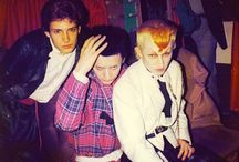 """Style: punk & new-wave / I'm looking for pictures from loosely mid-1970s to mid-80s. Of course punk and new wave (and the various subsets of each) were not at all the same thing musically speaking, but there was a lot of overlap. """"Style"""" here means both the musical styles and the fashion part of it, which were pretty inextricable anyway."""