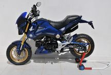Honda MSX 125 (Grom) 2014/2016 by Ermax Design / Accessories, nose screen, belly pan, rear hugger, exhaust, seat cover, undertail