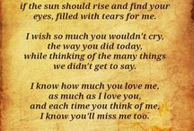 Thoughts of Mom / I will forever miss my Mom.