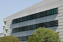 Horizontal Feature Louvres / Architectural feature fins for commercial application