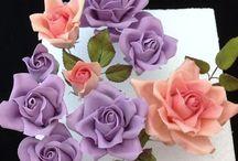 flores en fondant