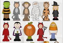Cute Halloween Graphics Digital Clipart / Create your own crafts and cards with our Halloween graphics. Use for scrapbook projects too. Cute Halloween Graphics Digital Clipart
