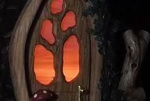 christmas fairy house door 1