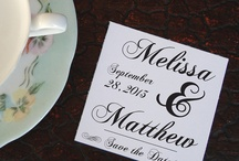 Save the Date / Save the date announcements, made by members of the Etsy Wedding Team.