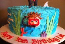 Scuba diving cake