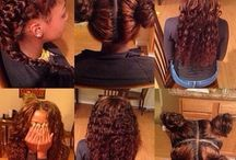 Weave Game / Relaxed hair styles