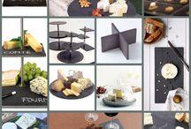 Quesos / Ideas para presentar los quesos en platos de pizarra.