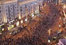 Moscow day and night / Moscow day and night, Moscou jour et nuit, Russie, Russia