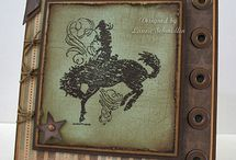 """Stamp:Bronc Buster / Handmade cards featuring stamps from """"Bronc Buster"""" set by Stampin' Up."""
