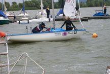 Deutsche Segelmeisterschaften / Segelmeisterschafter in der Congarklasse am Altmühlsee.