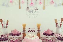chá de cozinha( decoração)