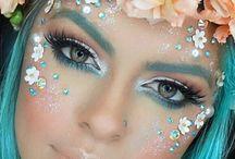 faery fairy siren make-up looks