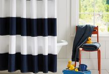 HOME   BOYS BATHROOM / 2 boys sharing a bathroom ( navy, white, stripes, preppy)