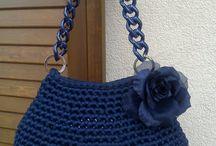 carteras crochet y totora