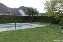 Protection piscine et garde corps en inox brossé et verre trempé