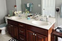 maak badkamer skoon