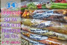 ORGANIZED - (make ahead) Slow cooker freezer meals ☺