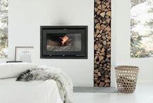fire wood stacks