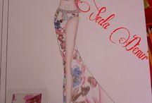 stylist / Kadın giysileri artistik çizim (stilistlik)