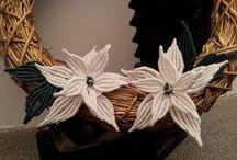 fiori e Natale macrame