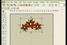 Embird tutorials / Embird is een basisprogramma die uit te breiden is met Studio, Sfumato< Kruissteek en Font engine.