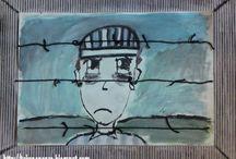 Wereld oriëntatie: de tweede wereld oorlog / Tekenopdracht gevangene achter prikkeldraad